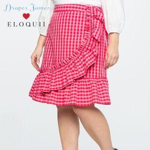 Draper James For ELOQUII Gingham Skirt